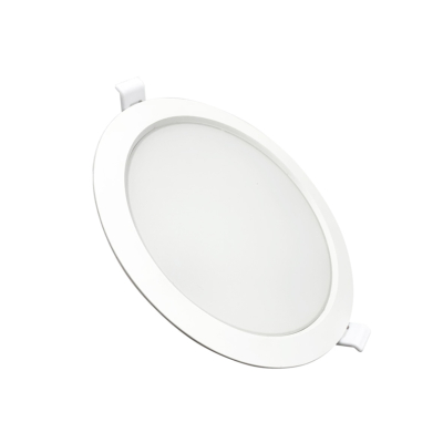 Downlight Dalle LED Plate Ronde BLANC 24W Ø225mm
