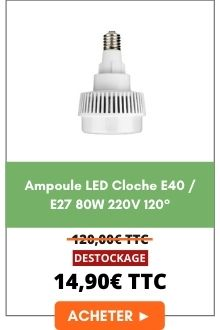 Ampoule LED Cloche E40/E27 80w 220v 120°