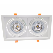 Downlight Spot LED COB Rectangle Orientable 2x20W 120°