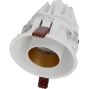 Downlight Spot LED COB Orientable Dimmable Rond BLANC/DORE 9W 120°