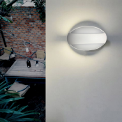 Applique LED Murale Ovale Blanche 12W