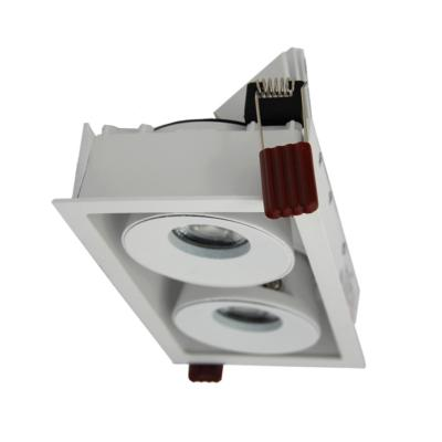 Double Downlight Spot LED Dimmable 2x9W 120° Rectangle BLANC