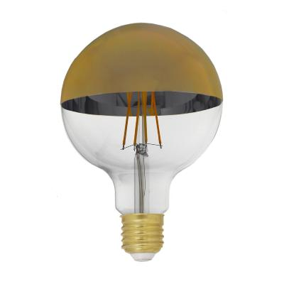 Ampoule LED E27 Filament Dimmable 8W G95 Globe Reflect Or