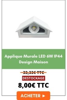 Applique murale LED 6W IP44 Design Maison