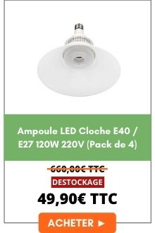 Ampoule LED Cloche E40 E27 120W 220V (Pack de 4)