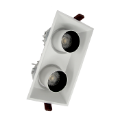 Spot LED Double Orientable Dimmable Blanc/Noir 2x9W 120°