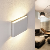 Applique LED Murale Blanche 10W IP44
