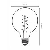 Ampoule LED E27 Filament Dimmable 6W G95 Globe