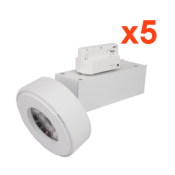 Spot LED sur Rail 12W 38° Monophasé BLANC (Pack de 5)