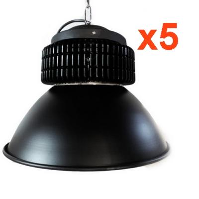 Cloche LED Industrielle 200W 120° NOIR ( Pack de 5)