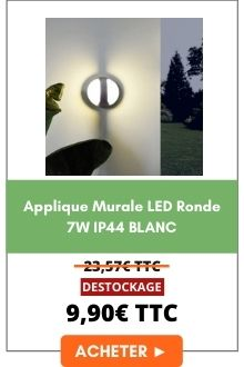 Applique murale LED Ronde 7w IP44 Blanc