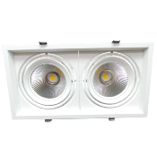 Downlight Spot LED COB Rectangle 2x20W