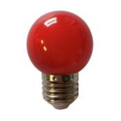 Ampoule LED E27 1W G45 ROUGE