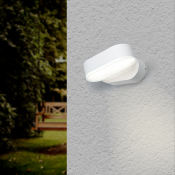 Applique Murale Blanche LED IP54 Orientable Ovale