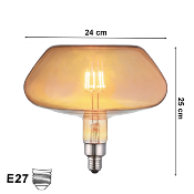Ampoule LED E27 Filament 8W Champignon XL