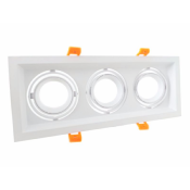 Support Spot GU10 LED Encastrable Triple Projecteur