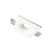 Support Spot GU10 LED Carré Blanc Ø120mm