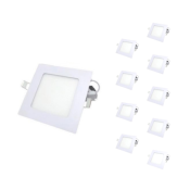 Downlight Dalle LED Extra Plate Carré BLANC 6W (Pack de 10)