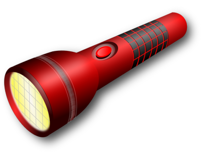 lampe torche rouge