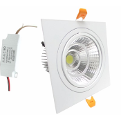 Downlight Spot LED COB Carré Orientable 18W