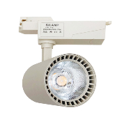 Spot sur Rail LED 30W 80° Binaire Monophasé BLANC