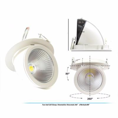 Downlight Spot LED COB 30W 90° Rond Orientable