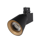 Spot LED sur Rail 12W 38° Monophasé Dimmable NOIR DORE
