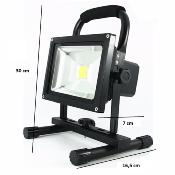 Projecteur LED  Phare 20W IP65 Portable Rechargeable JAUNE