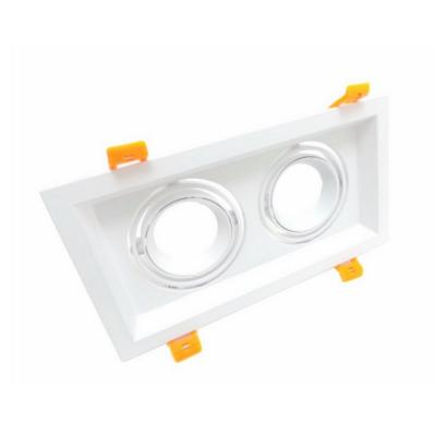 Support Spot GU10 LED Encastrable Double Projecteur