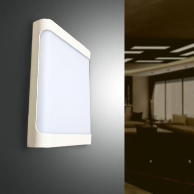 Applique Murale LED Rectangulaire 18W IP44 Blanche