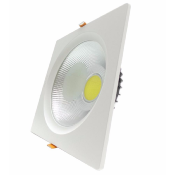 Spot LED Encastrable COB Carré 40W 235mm