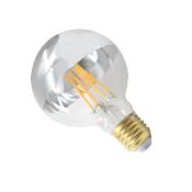 Ampoule LED E27 Filament Dimmable 8W G80 Globe Reflect Argent