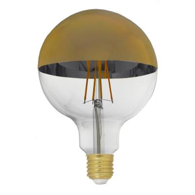 Ampoule LED E27 Filament Dimmable 8W G125 Globe Reflect Or