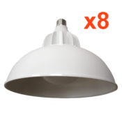 Ampoule LED Cloche E27 30W 220V 120° (Pack de 8)