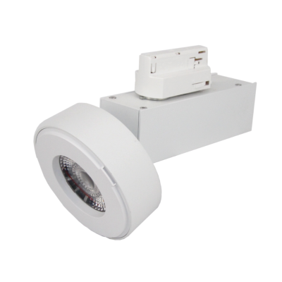Spot LED sur rail 12W 38° Monophasé BLANC