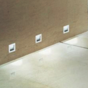 Applique Murale Blanche Encastrable LED IP44 3W E11