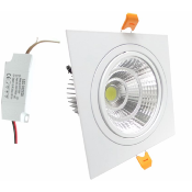 Spot LED Encastrable Orientable Carré 24W