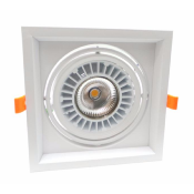 Spot LED COB Carré Orientable 20W 120°