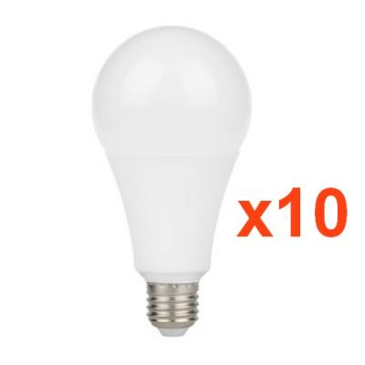 Ampoule LED E27 9W A60 220V 230° (Pack de 10)