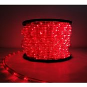 Guirlande LED 220V 50M IP44 Recoupable - Rouge