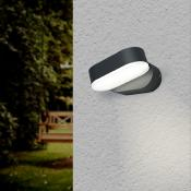Applique Murale Noire LED 6W IP54 Orientable Ovale