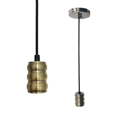 Suspension Douille E27 en Bronze Brossé Cylindrique