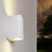 Applique Murale Design Blanche LED IP44 Double Faisceau 6W