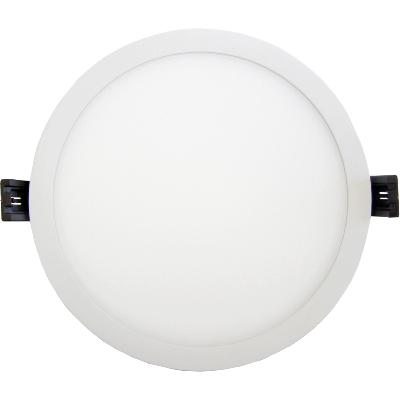 Spot Downlight LED Rond 8W Plat 120° Blanc
