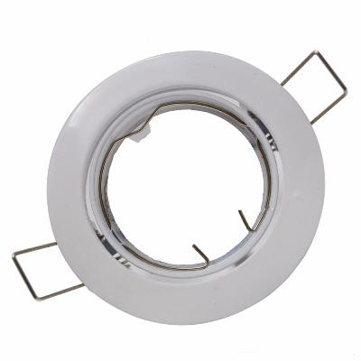 Support Spot GU10 LED Orientable BLANC