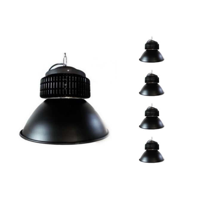 Cloche LED Industrielle 200W 120° NOIR (Pack de 5)