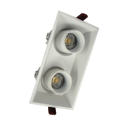 Double Spot LED COB Orientable Dimmable Rectangle BLANC 18W 120°