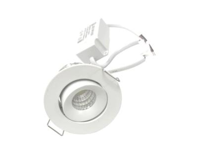 spot LED encastrable rond et blanc