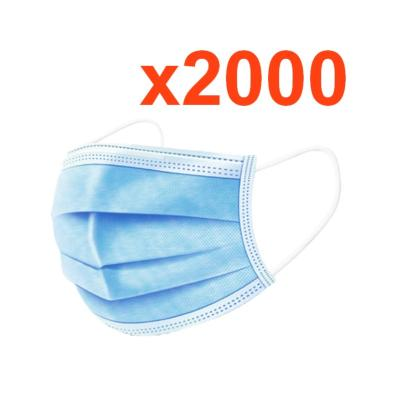 Masque chirurgical grand public jetable tissu (Pack de 2000)