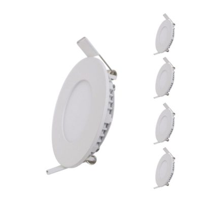 Spot LED Extra Plat Downlight Rond 6W Blanc (Pack de 5)